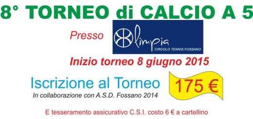 8° TORNEO DI CALCIO A5 volantini 1